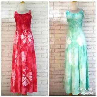 Longdress Tie Dye Bali. Ambil 2 Rp.130rb
