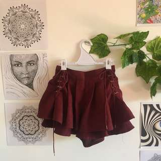 High Waisted Bohemian Shorts