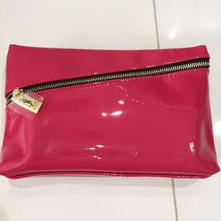 YSL Pouch pink Gold hardware with a small detect