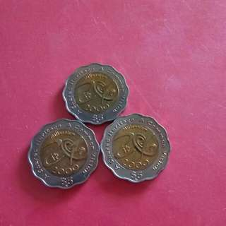 Singapore 2000 Millennium $5 Coin(3PCs)