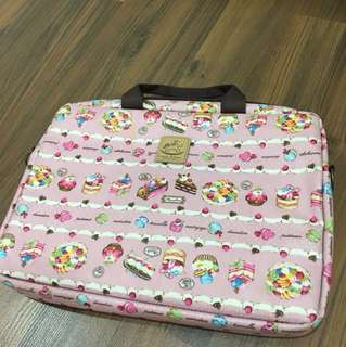 Laptop Bag (pink with prints)