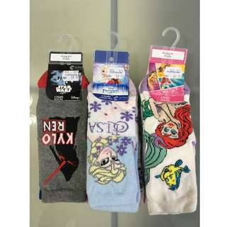 Mothercare Disney Star Wars, Frozen, Aerial Socks for 1-2y