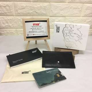 Mont Blanc card holder & USB set 全新