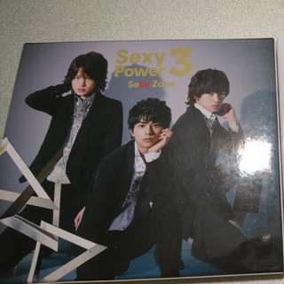 sexy zone sexy power 3 初回盤 cd+dvd