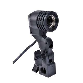 PXEL BH1B E27 Single Bulb Holder E27 Socket Flash Umbrella Bracket