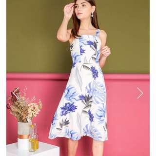 TSW Linette Foliage Midi Dress