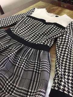 Checkered Pattern Dress