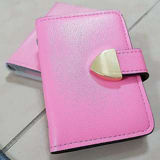 Pink-Card Holders-20 cards/with Compartments/Free Speedy Delivery