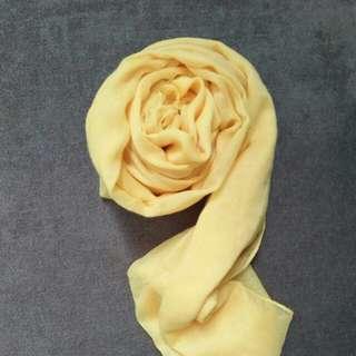 Yellow pashmina