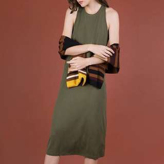 Basic Midi Dress in Emerald
