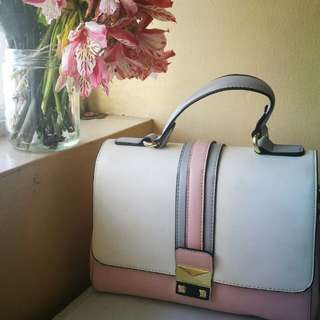 Korean Pink Satchel with body strap