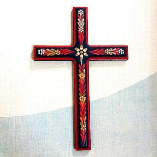 Wooden Painted Holy Cross