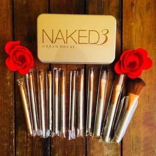 Naked 3 Makeup Brush Set 12pcs