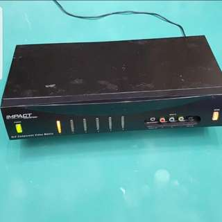 6 X 2 Component Video Switcher