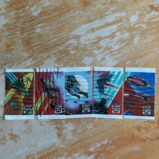 美國郵票太空已銷郵票一套五a01