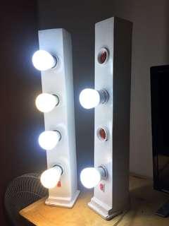 Vanity mirror makeup lamp lampu makeup box