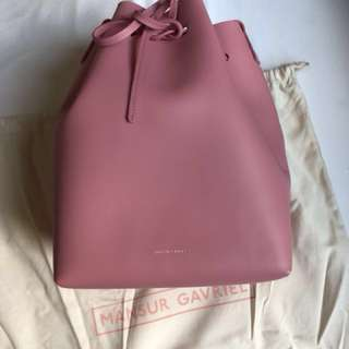 Brand New Auth Mansur Gavriel Bucket Bag in Peony