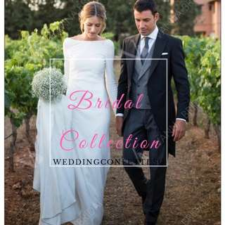 Long Sleeves Wedding Gown