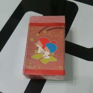 全新 1984 Sanrio Little Twin Stars 擦膠 Rubber made in Japan