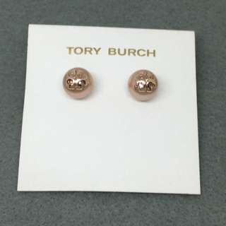 Tory Burch Sample Earrings rose gold 玫瑰金色珍珠圓球形耳環