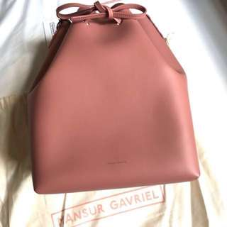 BN Authentic Mansur Gavriel Bucket Bag in Blush