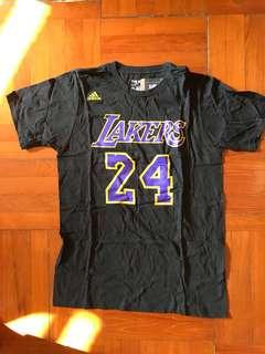 全新 Adidas Los Angelas Lakers Kobe Bryant Number Tee Size M
