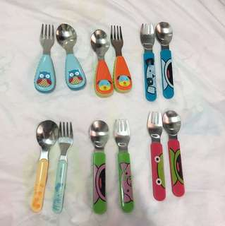 Spoon and fork for kids