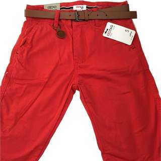 🍬 Branded Chino Red Walking Short For Boys