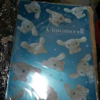 日本 cinnanoroll 大耳狗 玉貴狗A4 file $15(包郵)