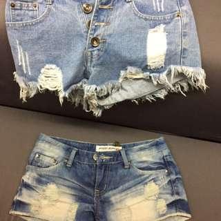 牛仔短褲(合售)