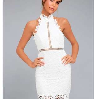 White/black  lace divine destiny  Lace Dress