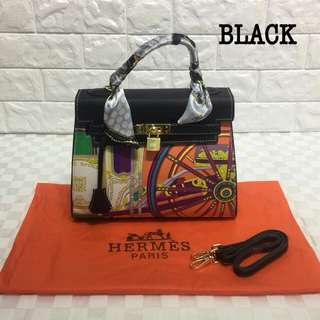 Hermes Kelly Black Color