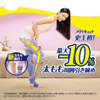 (2 Instock) MediQtto Dr. Scholl Open Toe Full Leg Compression Stockings for sleeping Made in Japan
