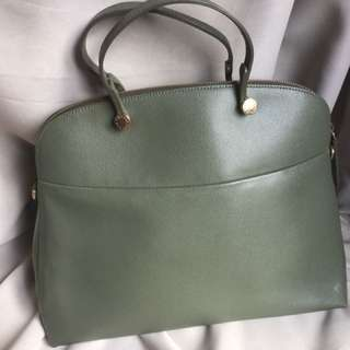 furla piper XL tote bag green手提單肩兩用手袋