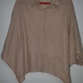 Batwing lace top