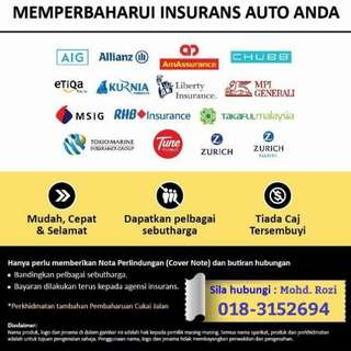 Renew Insurance & Roadtax (Rebate 2%)
