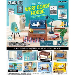 Re-ment Snoopy's West Coast House