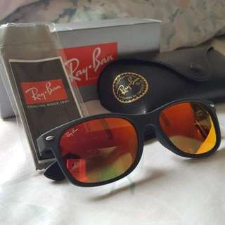 Authentic Ray Bans Red Wayfarers Matte Frame Never Worn