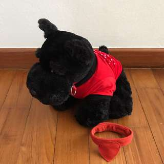 Scotty Dog Plushie with changeable collar