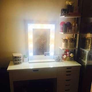 Vanity ikea style makeup table