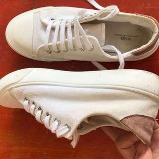 Mango white shoes