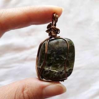 Jadeite (Jade) wirewrap pendant