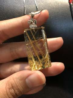 Gold rutilated pendant 金钛晶王冠吊坠