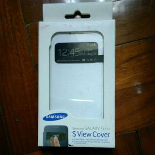原廠 Samsung S4 mini S View Cover 機套 (白色)