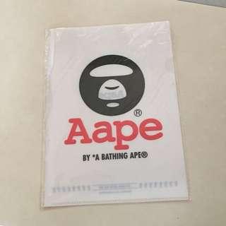 AAPE file Folder  A4文件夾 Bape