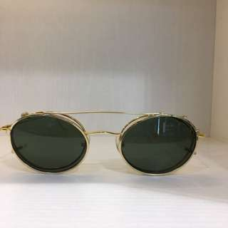 Vintage clip on sunglasses