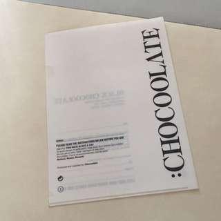 全新 CHOCOOLATE FILE FOLDER A4