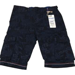 🍬 Branded 6pockets Cargo Walking Short For Boys (Navyblue)