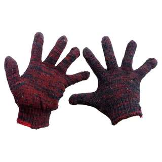 Meisons colored cotton gloves flower red color price/pair