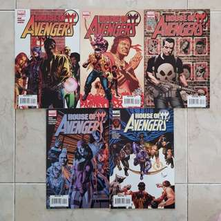 House of M: Avengers (Marvel Comics 5 Issues Limited Series, #1 to 5 complete story arc)
